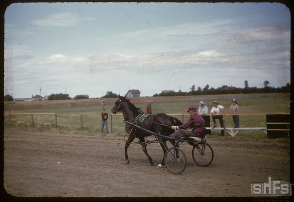 The winner of the harness race William Houston.  Shaunavon.  07/27/1955