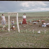 "Mrs. Mike Sand and her children's ""Co-op Farm"".  Shaunavon.  06/12/1957"