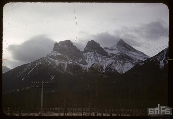 Three Sister Mountain.  Banff.  01/14/1958