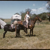 Barbara Howell on Horse back.  Shaunavon.  07/23/1957