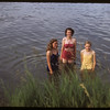 Swimming in the river - Lela Duke & Margaret Armistead and Jackalene Bascom.  Swift Current.  07/09/1953