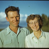 Mr & Mrs Don Meinert at Bloome picnic.  Shaunavon.  07/02/1951