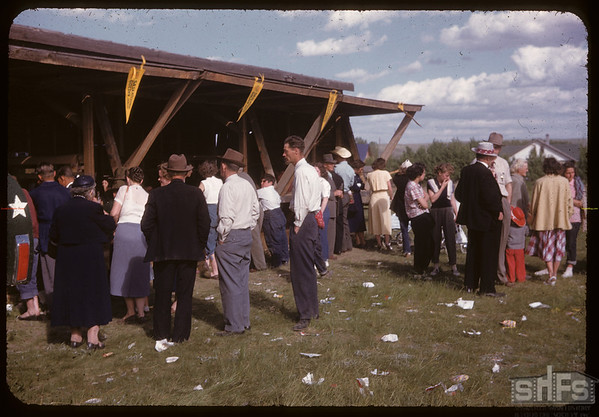 Jubilee celebration - refreshment booth.  Val Marie.  06/06/1955