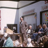 Loui Lloyd providing main address opening of Co-op service station.  Shaunavon.  06/27/1957