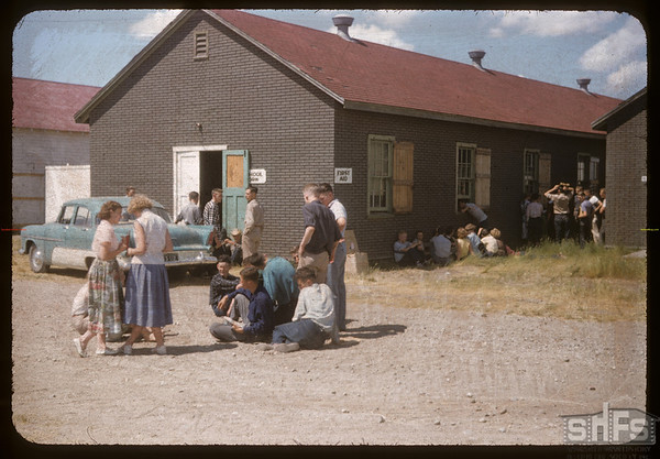Co-op school - group discussions.  Swift Current.  07/14/1956