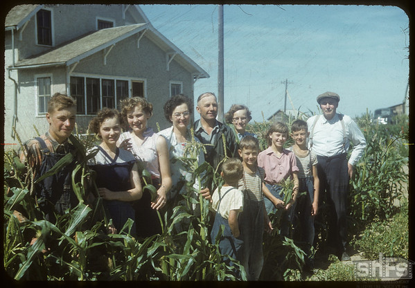 Peter Lewan's family and Joe Sand..  Shaunavon.  08/24/1954
