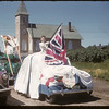 Jubilee Fair Parade - I.O.D.E. Float - Mrs. Green.  Shaunavon.  07/26/1955