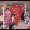 Ruest girls on Credit Union Float.  Val Marie.  06/06/1955