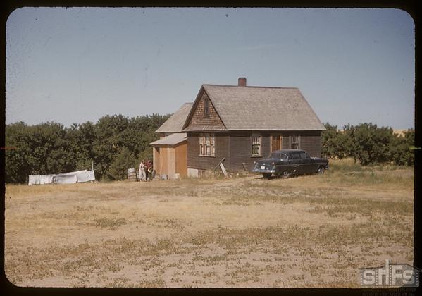 Joe Orr's home.  Val Marie.  08/25/1955