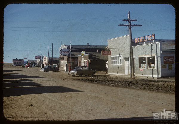 Main street looking north.  Val Marie.  10/05/1954
