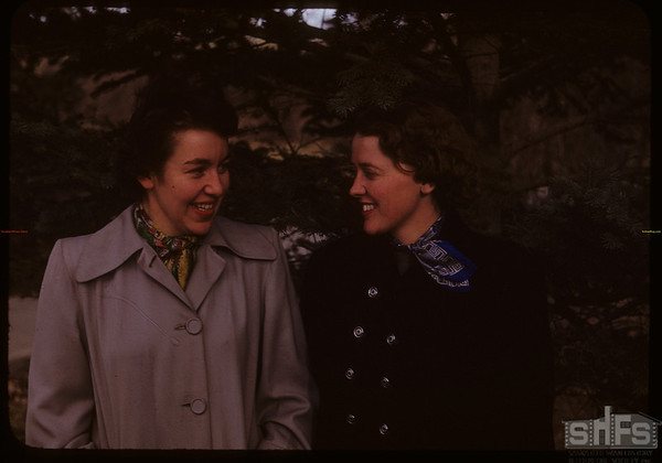 Public Health nurses - Miss Walbaur and Miss Geddes.  Shaunavon.  11/04/1950