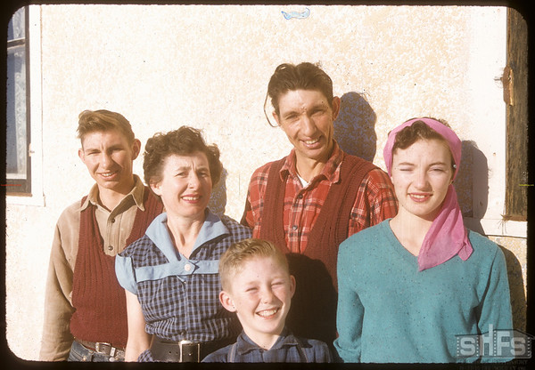 Frank Smith family..  Shaunavon.  12/29/1957