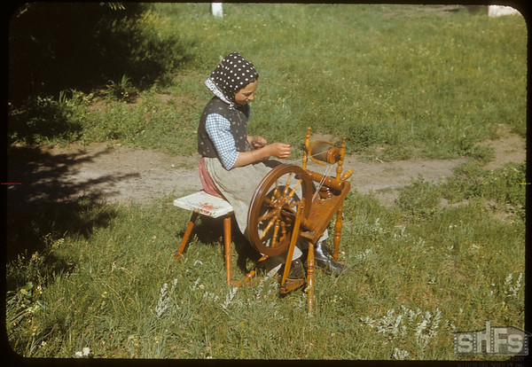 Bench Colony - [working the spinning wheel]..  Shaunavon.  07/13/1954