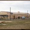 Hutterite's new barn for feeding 500 pigs.  Shaunavon.  08/03/1957