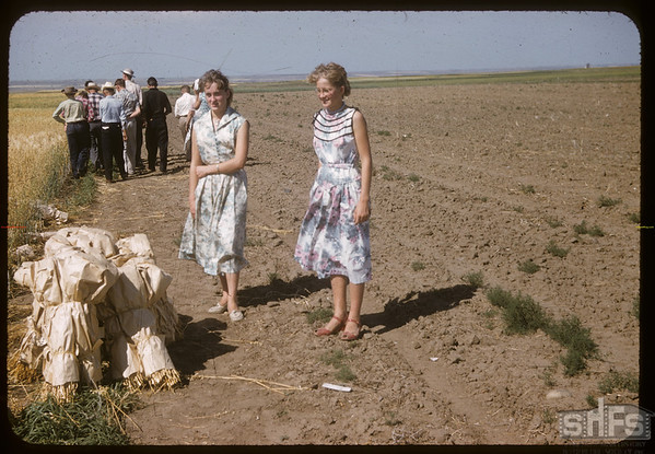 Dorothy and Anita Wernicke.  Swift Current.  08/05/1957