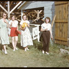 Young women at Shaunavon Fair.  Marge Miller - Kay Beckwith - Ruth Schroeder & Evelyn Shickowski..  Shaunavon.  07/25/1950