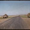 Hay racks at the roadside.  Shaunavon.  06/24/1956
