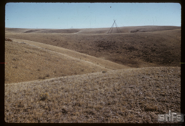 Tepee at Blackfoot watch - looking SE.  South Fork.  10/28/1958