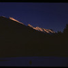 Sunset on Mount Rundle.  Banff.  01/13/1958