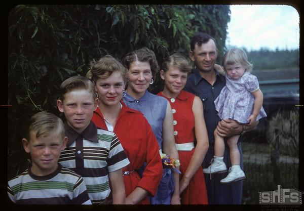 The Walter Thomas family.  Wood Mountain.  08/07/1954