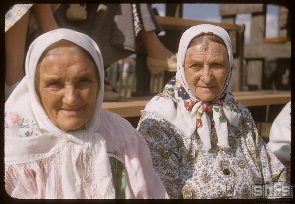 Pionera - Doukhobor ladies the bread bakers.  Saskatoon.  07/04/1956