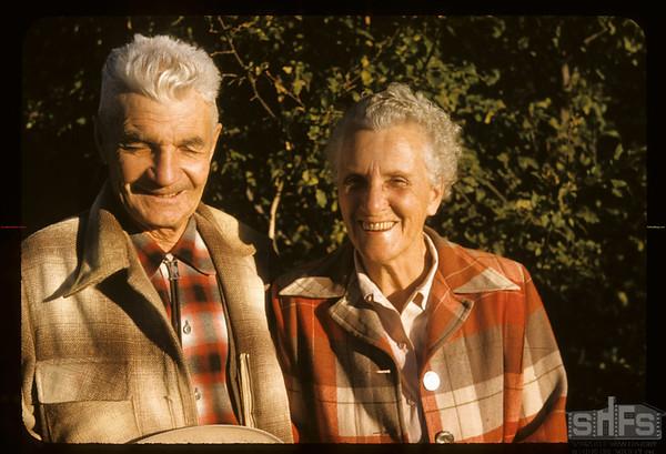 Mr & Mrs Dick DeCock.  Wood Mountain.  09/25/1957