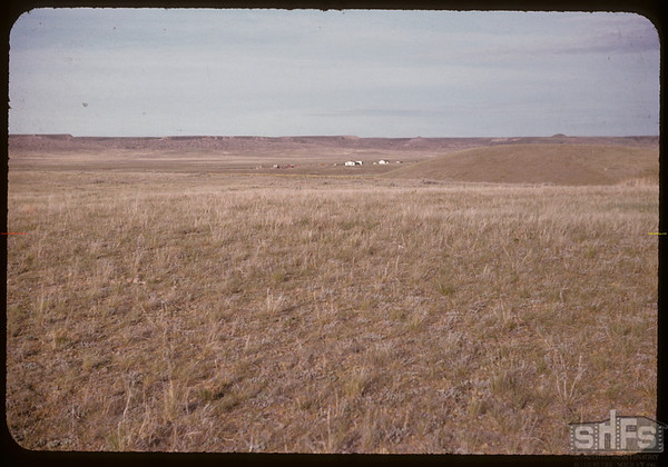 Walter Larson's ranch home - east of Val Marie.  Val Marie.  05/31/1955