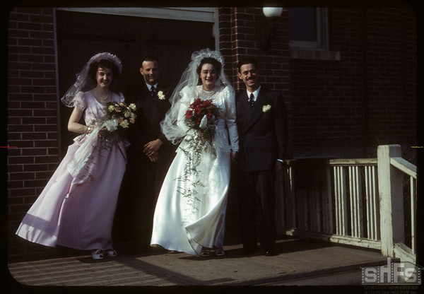 Shirley - Roberts wedding.  Shaunavon.  04/12/1950