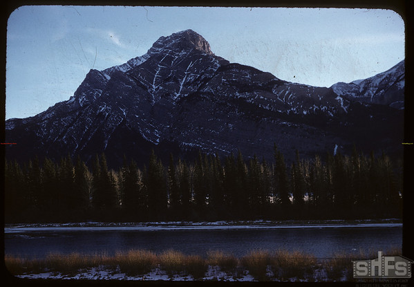 Mountains near Banff..  Banff.  01/13/1958