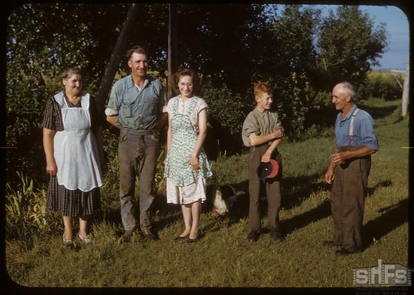 Steve and Harold Grubbe and Raymond kirkpatrick.  Shaunavon.  08/26/1950
