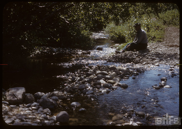 Joe Grobowski at Johnny's Mountain Stream.  South Fork.  08/08/1950