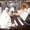 Anne Halderman playing organ..  Shaunavon.  06/27/1957