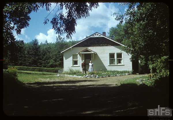 Dick DeCock's home.  Wood Mountain.  08/07/1954