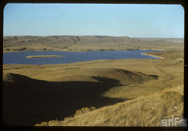 West dam from SW.  Val Marie.  10/05/1954