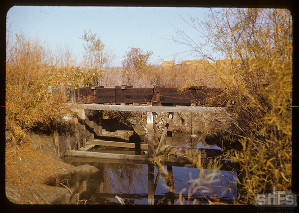 Irrigation flume.  Val Marie.  10/13/1950