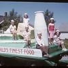 Shaunavon Fair Parade - Co-op Creamery Float.  Shaunavon.  07/26/1950