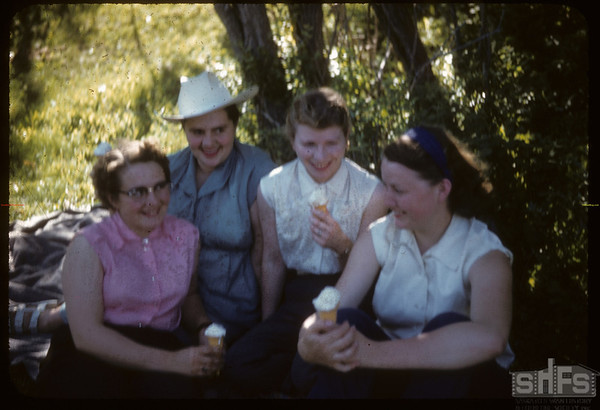 Beauty in the Shade near Johnny Grobuwskis.  South Fork.  06/10/1956