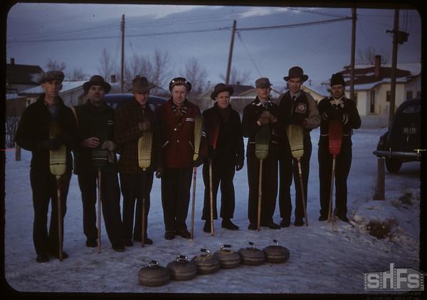Curling - Studer & Buchan rinks.  Shaunavon.  02/11/1950
