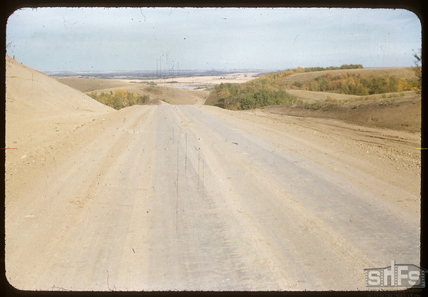 Road west from Battleford.  Wilkie.  09/17/1956