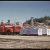 Jubilee Fair Parade - T.W.A.O. Comp. float.  Shaunavon.  07/26/1955