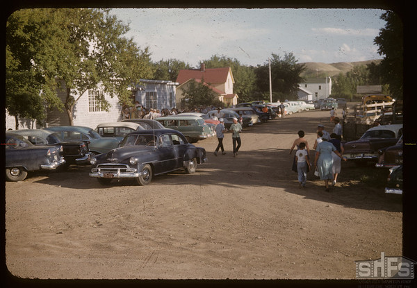 Cars at International 4-H rally. Eastend. 06/09/1956