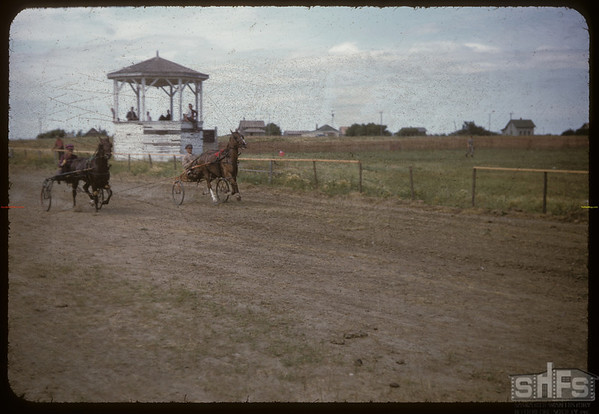 Shaunavon Fair - harness races.  Shaunavon.  07/26/1955