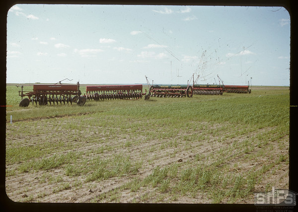 Seeding machines at Experimental Farm.  Swift Current.  07/05/1950