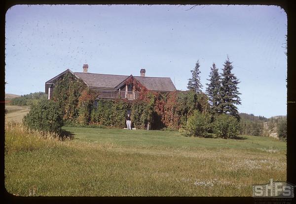 Old Tenaille home - John and Bernice Stewart. Eastend. 09/16/1952