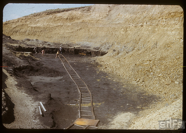 Bill Ross and Jack Reoch inspect coal mine.  South Fork.  07/02/1950