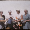 Lunch being provided for the official opening Co-op service station.  Shaunavon.  06/27/1957