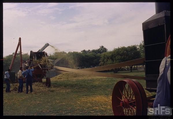 Yorkton Thresherman's Festival - threshing machine.  Yorkton.  08/01/1999