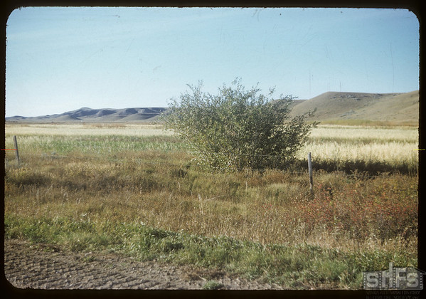 Frenchman Valley toward Val Marie dam.  Val Marie.  10/05/1954