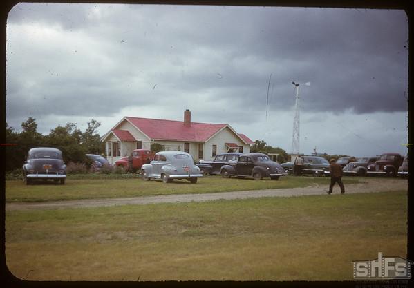 Field day at Horace Hockett's.  Shaunavon.  07/11/1950