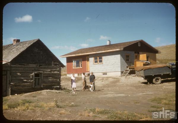 New & Old Mr. Mrs. Maurice Dordeau & Frank.  South Fork.  09/12/1957